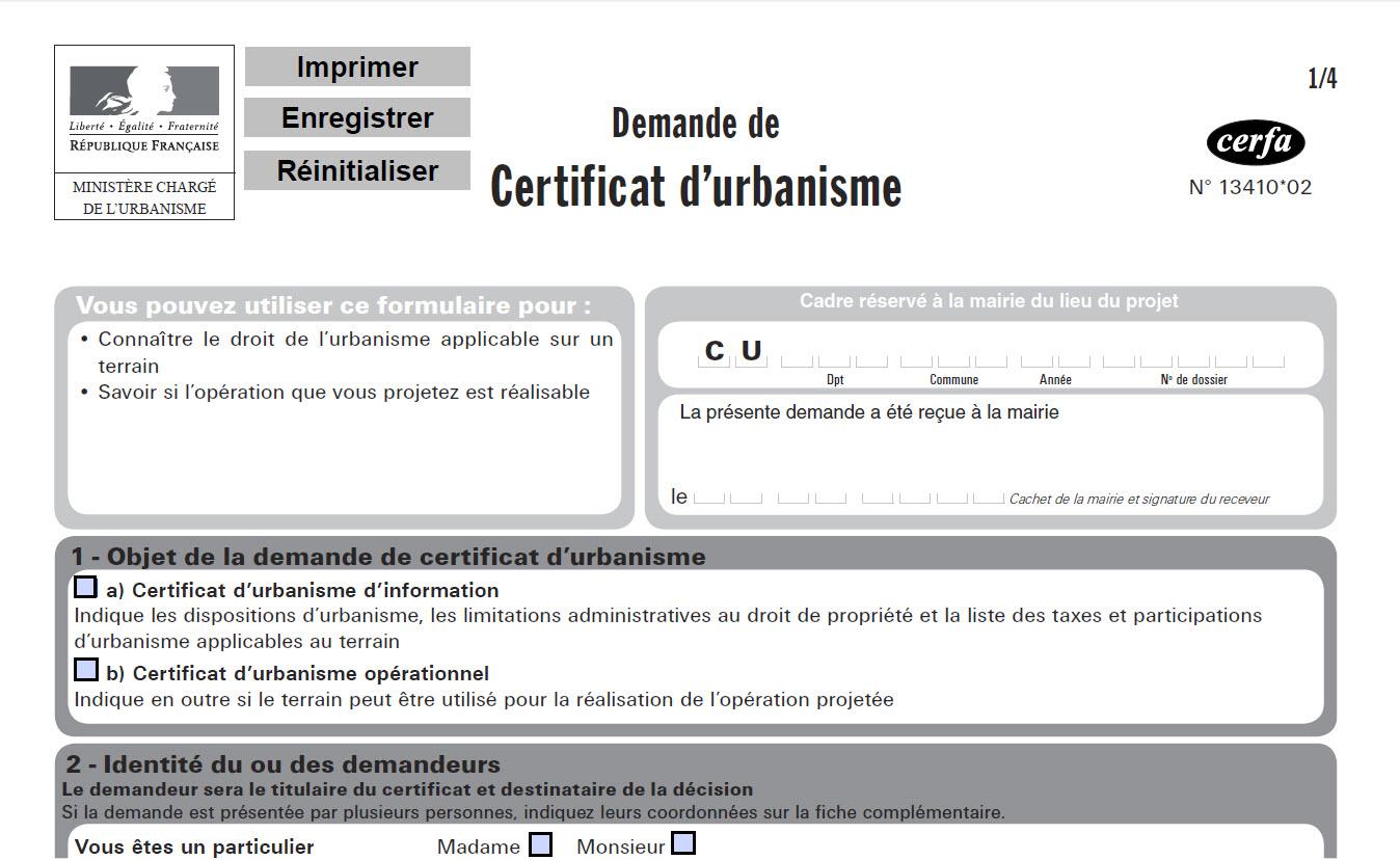 Certificat d 39 urbanisme site de la commune de soye for Certificat d urbanisme positif
