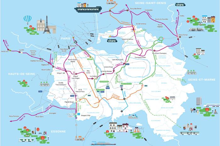 la carte des projets de transports dans le val de marne ville de villecresnes. Black Bedroom Furniture Sets. Home Design Ideas